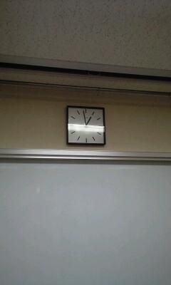 一般研修室の時計